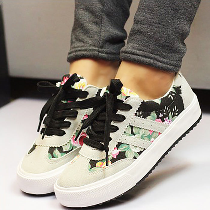 Women casual shoes 2018 new arrivals printed women