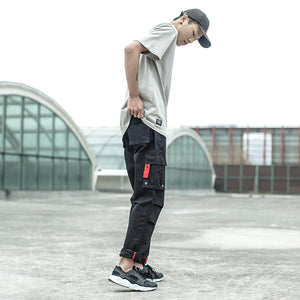 2018 Fashion Men Jeans Black Color Casual Pants Cotton Loose Fit