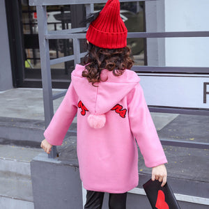 2017 Hot Sale Children Clothing 3-14 Winter Kids Outerwear Girls Casual