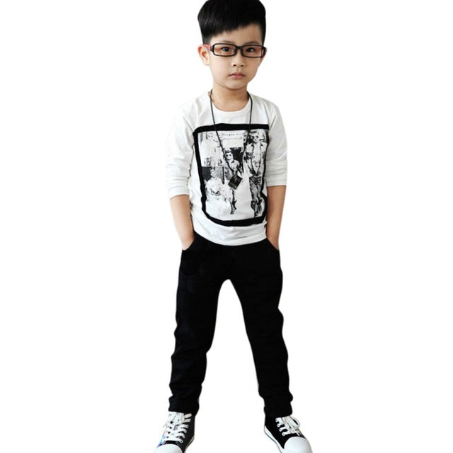 2017 Infant Toddler Boys Casual Cotton Jeans Slim Pants 2-7Y