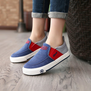 2018 European new slip on children casual sneakers cow  cool baby girls boys shoes