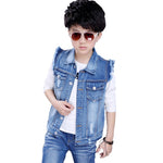 Vest 2018 Sprin Kids Outerwear Coat Boys Denim Jacket