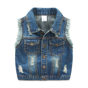 2-7T Boys Girls Jeans Vest Babe Jeans Jacket