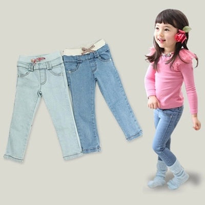 2018 New Spring Elastic Waist boys Girls Jeans Denim