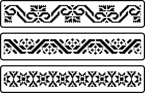 Mexican Embroidery Border Set