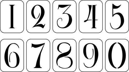PRE-ORDER - Antique Hand Painted Numbers