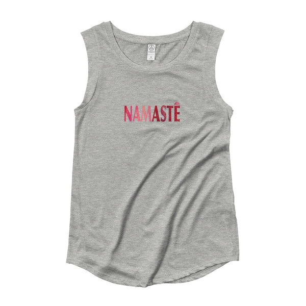 Namaste ~ Ladies' Cap Sleeve T-Shirt