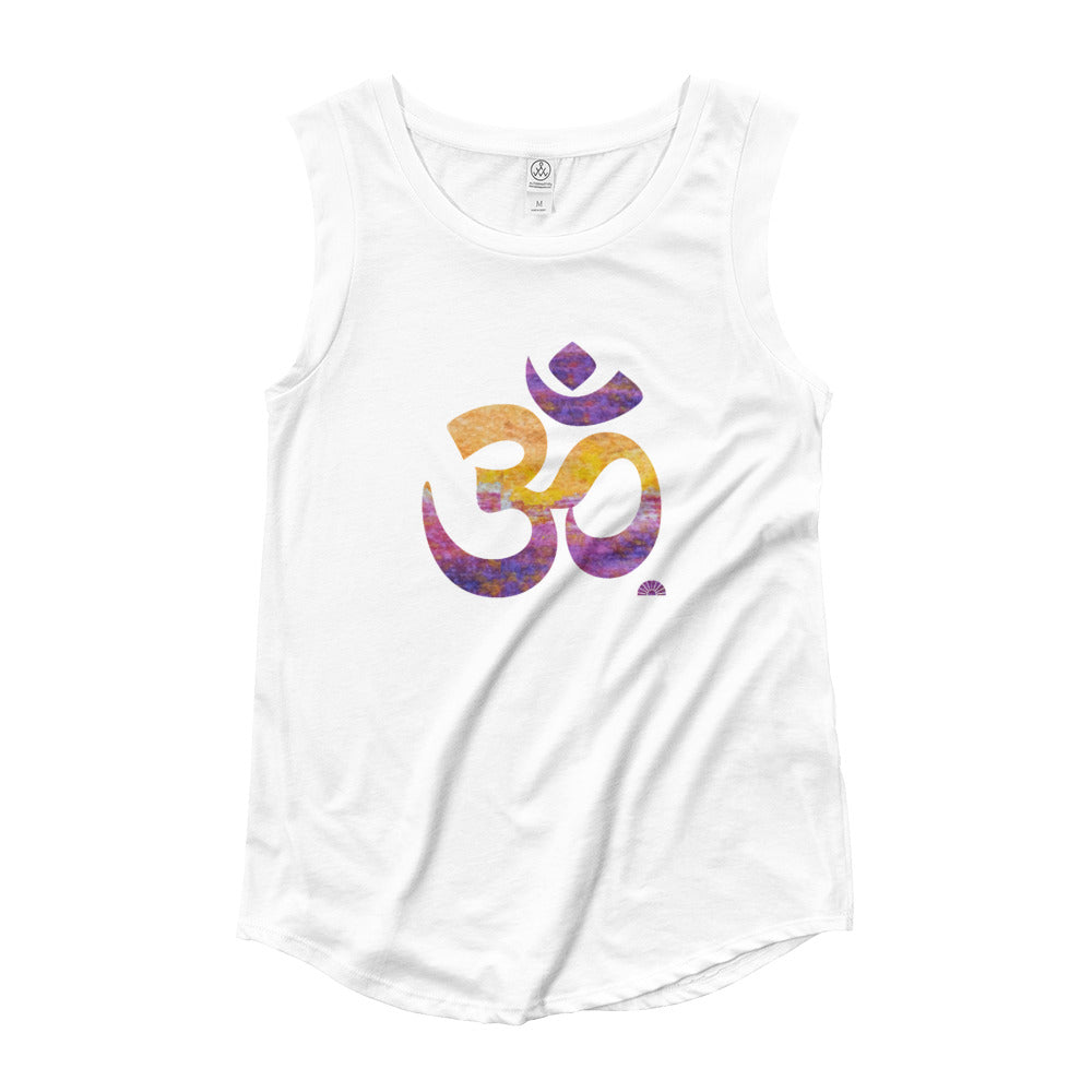 Bold OM ~ Ladies' Cap Sleeve T-Shirt