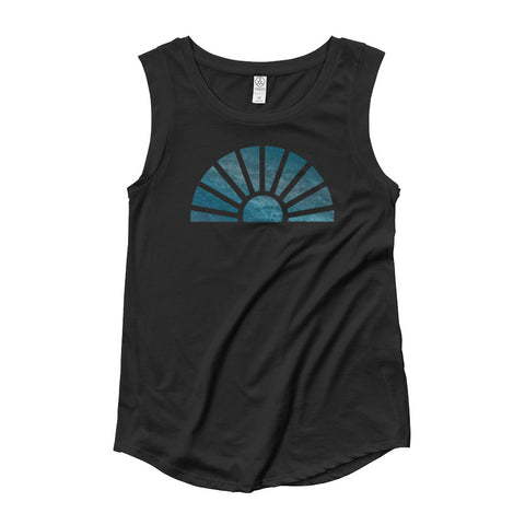 Be in the Flow ~ Ladies' Cap Sleeve T-Shirt