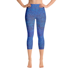 Be Blue ~ Active Capri Leggings