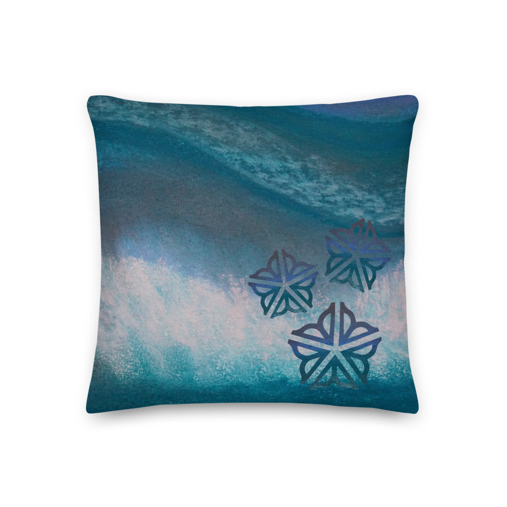 "Be in the Flow ROC ~ Decorative Toss Pillow (18x18"")"