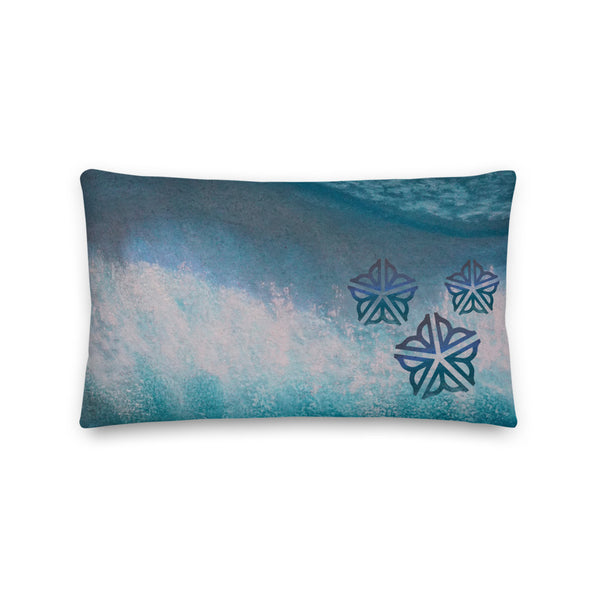 "Be in the Flow ROC ~ Decorative Toss Pillow (20 X 12"")"
