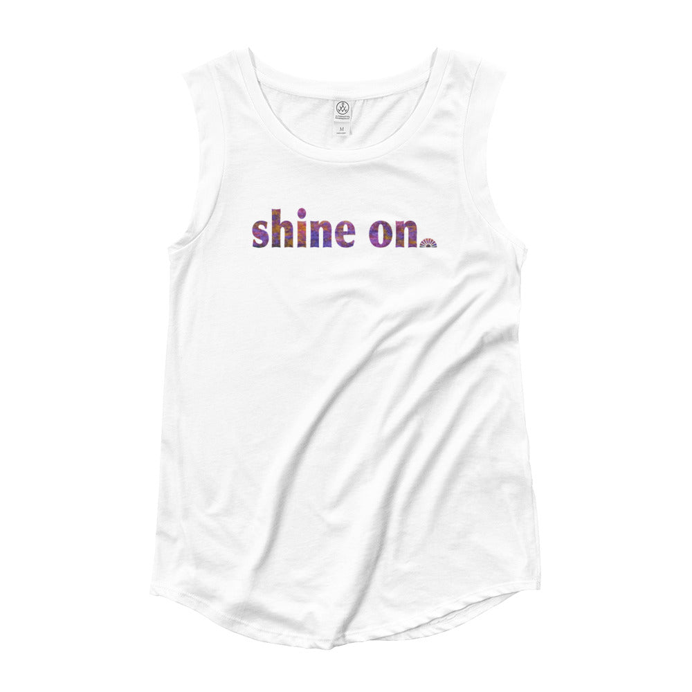 Shine On ~ Ladies' Cap Sleeve T-Shirt