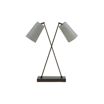 Bronze Crossover Table Lamp