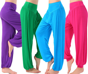 Colorful Harem Pants High Waist