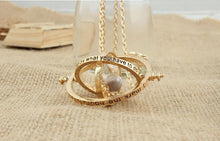3D Rotating Hourglass Necklace