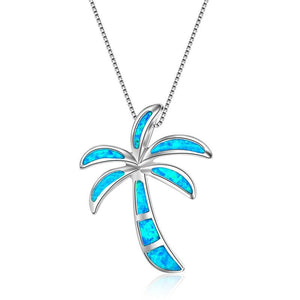 Palm Tree Opal Necklace