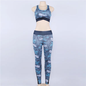 2 Piece Set Sexy Camouflage Bras And Leggings
