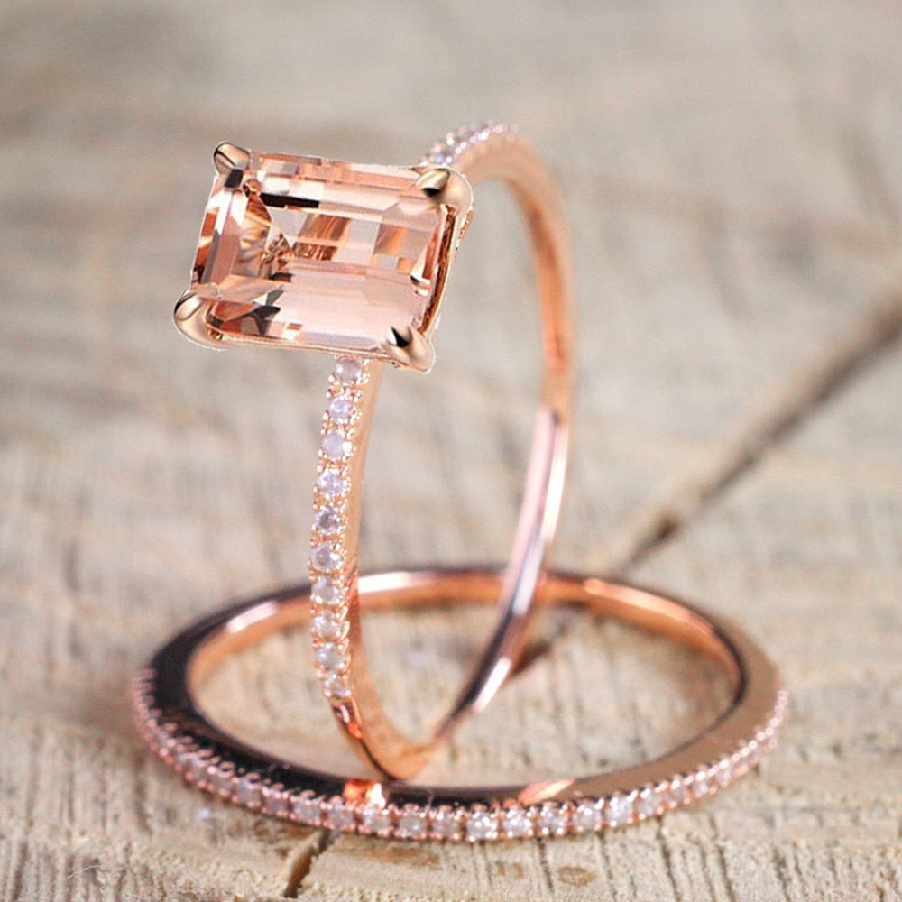 Luxury Rose Gold Crystal Ring
