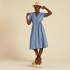 Organic Cotton Tea Dress - Cornflower