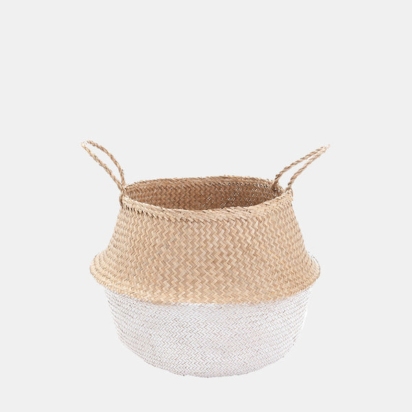 White Dipped Belly Basket - Medium