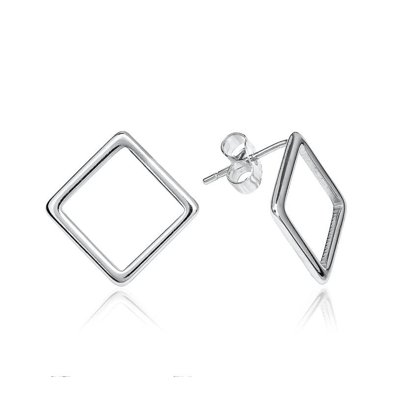 Hollow Square Earrings