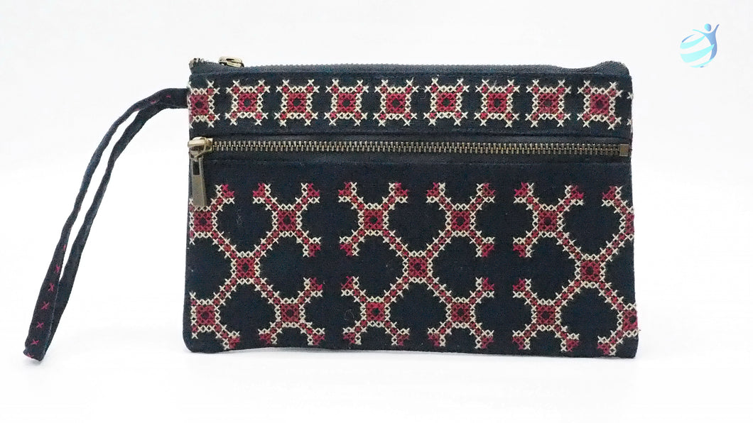Handmade hill tribe embroidery purse: CMP006