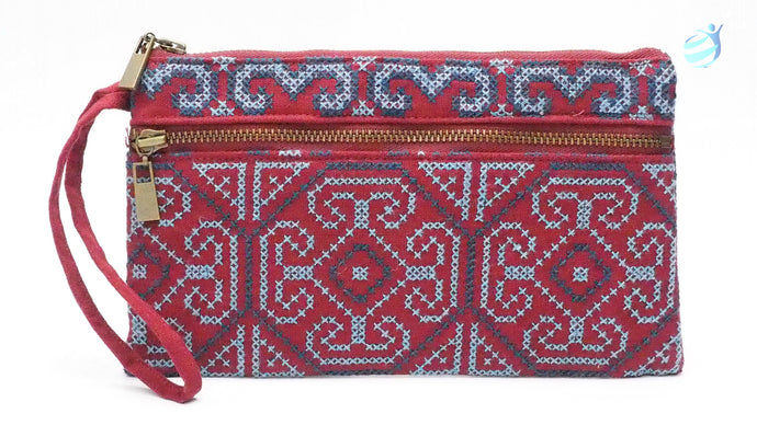 Handmade hill tribe embroidery purse: CMP001