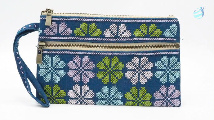 Handmade hill tribe embroidery purse: CMP005