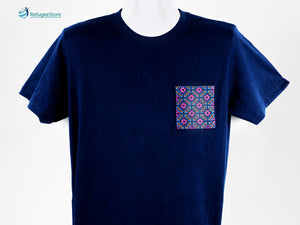 Handmade Hill Tribe Embroidery T-Shirt: CTS001