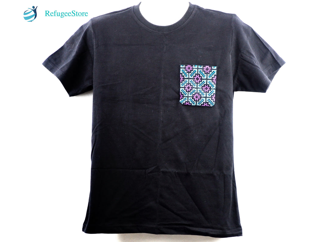 Handmade Hill Tribe Embroidery T-Shirt: CTS004