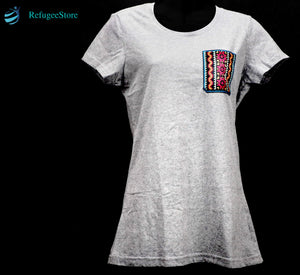 Handmade Hill Tribe Embroidery T-Shirt: CTS006