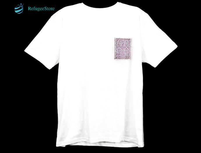 Handmade Hill Tribe Embroidery T-Shirt: CTS008