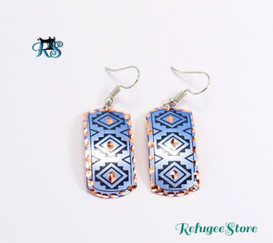 Handmade Turkish Copper Earring Antioch Silk Road Inspired Design