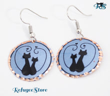 Cats and Paws Collection, Handmade Turkish Copper Earrings designed by Istanbul coppersmiths dedicate their love for animals with uniquely hand-painted copper jewelry arts. The copper earrings are produced by hands...