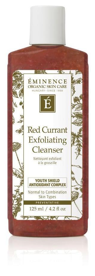 Cleansers Eminence Organics Toronto Ontario - Red Currant Exfoliating Cleanser eminence Toronto Eminence Organics Toronto Ontario Ontario eminence canada