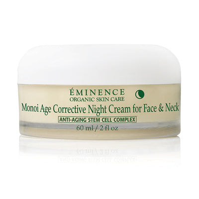 Eminence Canada Monoi Age Corrective Night Cream For Face & Neck Organic Moisturizer
