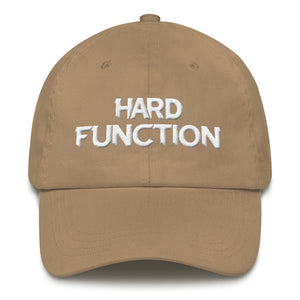Hard function text logo dad cap