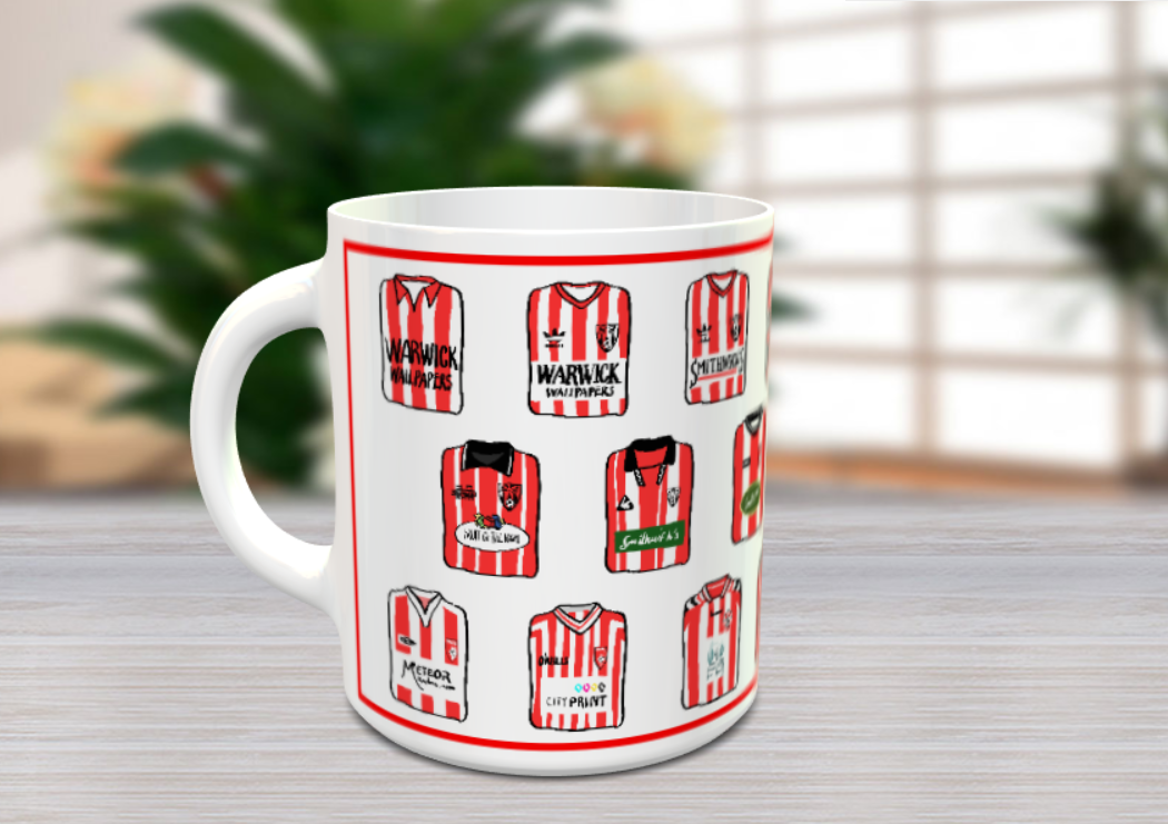 Derry City FC Historical Shirts Mug