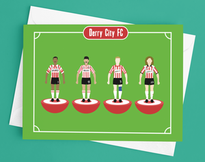 Derry City FC Subbuteo Legends Greetings Cards