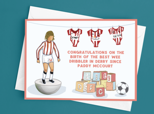 Paddy McCourt New Baby Card