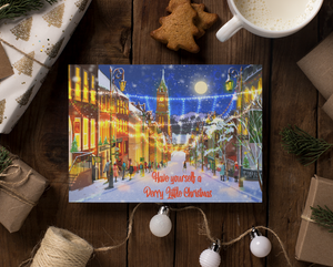 Derry Christmas Greetings Card: Shipquay Street Christmas