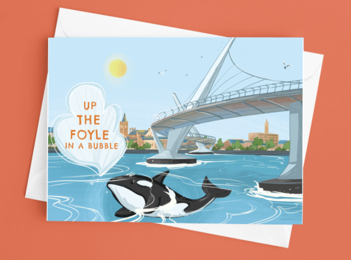 Up the Foyle in a Bubble Card
