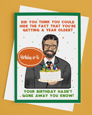 Gerry Adams Irish Birthday Card