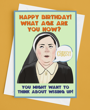 Derry Girls Sister Michael Greetings Card