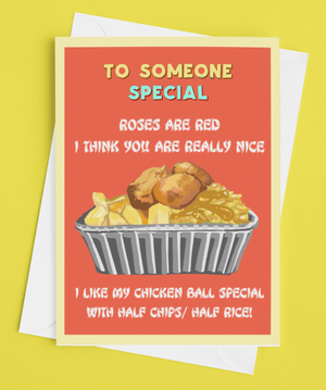 Chicken Ball Special Derry Valentine's Card