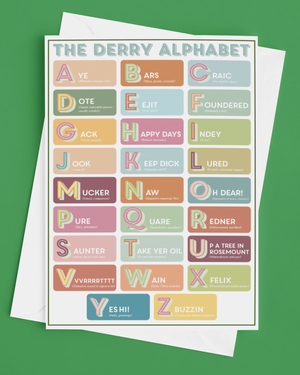 The Derry Alphabet Greetings Card