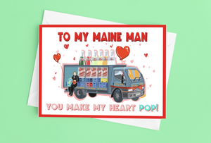 Maine Man Valentine's Card