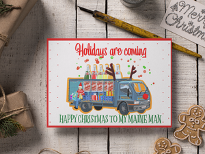 Maine Man Christmas Card
