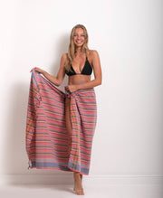 Sarong - Red and Black Stripe